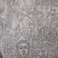 Demonvegg/Demon wall, Sauherad kirke
