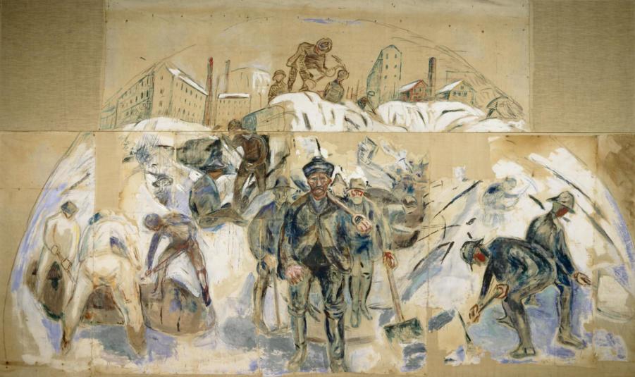 Edvard Munch, Arbeidere på byggeplassen, 1931-33